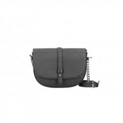 Talianska kožená kabelka na rameno 5074 čierna, čierna