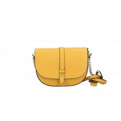 Talianska kožená kabelka na rameno 5074 okrová, okrová