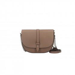 Talianska kožená kabelka na rameno 5074 šedohnědá, šedohnedá