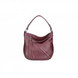 Talianska kožená kabelka na rameno 5100 bordováMADE IN ITALY, bordová