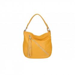 Talianska kožená kabelka na rameno 5100 okrová MADE IN