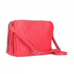 Talianska kožená kabelka na rameno 5313 červená, červená