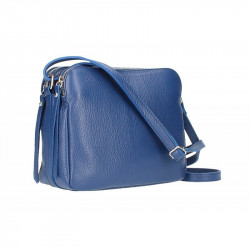 Talianska kožená kabelka na rameno 5313 modrá, modrá