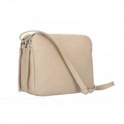 Talianska kožená kabelka na rameno 5313 šedohnedá, šedohnedá