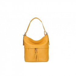 Talianska kožená kabelka na rameno 631 okrová MADE IN. 55.50€. TALIANSKA  KOŽENÁ KABELKA 35 žltá MADE IN ITALY 78983a24843