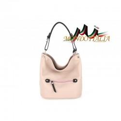 Talianska kožená kabelka na rameno 631 ružová MADE IN ITALY