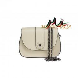 Talianska kožená kabelka na rameno 661 béžová MADE IN ITALY