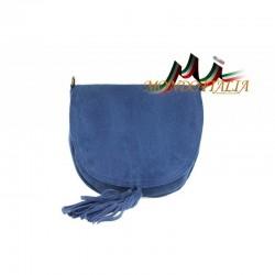 Talianska kožená kabelka na rameno 703 jeans MADE IN ITALY