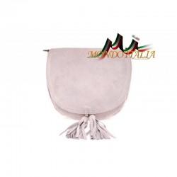 Talianska kožená kabelka na rameno 703 ružová MADE IN ITALY