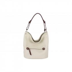 Talianska kožená kabelka na rameno 715 béžová MADE