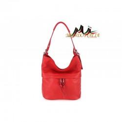 de0fb5459f Talianska kožená kabelka na rameno 715 červená MADE