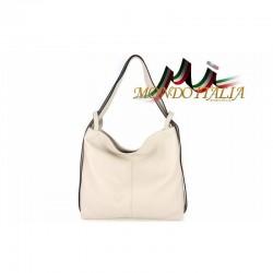 Talianska kožená kabelka na rameno 9010 béžová MADE IN ITALY 9010