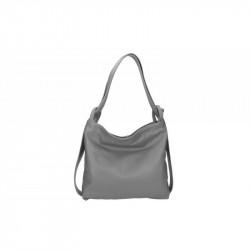 Talianska kožená kabelka na rameno 9010 tmavošedá MADE IN ITALY, šedá
