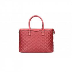 Talianska kožená prešívaná kabelka 6810 červená MADE IN ITALY, červená