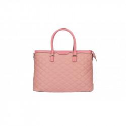 Talianska kožená prešívaná kabelka 6810 ružová MADE IN ITALY, ružová