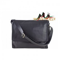 Talianska kožená taška cez rameno 685 čierna MADE IN a24a75e5199