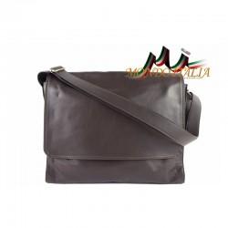 Talianska kožená taška cez rameno 685 tmavohnedá MADE IN ITALY