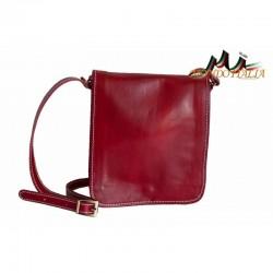Talianska pánska kožená taška 152 červená MADE IN ITALY 152