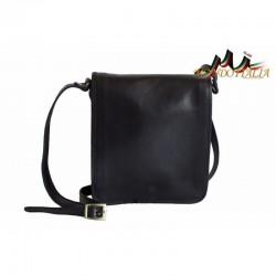 Talianska pánska kožená taška 152 čierna MADE IN ITALY 152