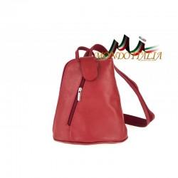 Taliansky kožený batoh 1083 červený MADE IN ITALY