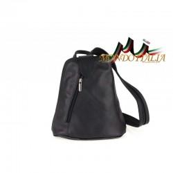 Taliansky kožený batoh 1083 čierny MADE IN ITALY