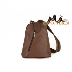Taliansky kožený batoh 1083 hnedý MADE IN ITALY 71f737289d2