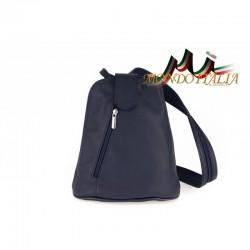 Taliansky kožený batoh 1083 modrý MADE IN ITALY