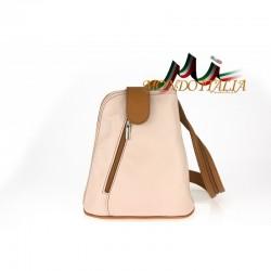 Taliansky kožený batoh 1083 ružový MADE IN ITALY