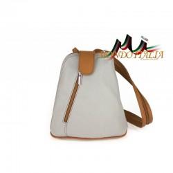 Taliansky kožený batoh 1083 šedá MADE IN ITALY