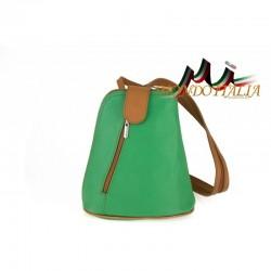 Taliansky kožený batoh 1083 zelený MADE IN ITALY