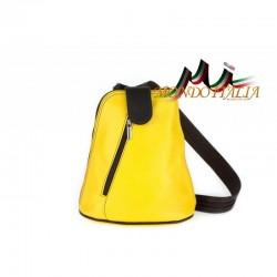 Taliansky kožený batoh 1083 žltý MADE IN ITALY