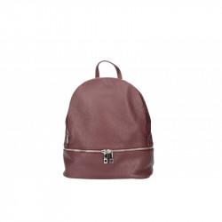 Taliansky kožený batoh 1084 bordový MADE IN ITALY, bordová