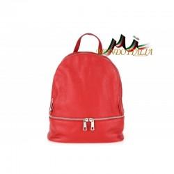 Taliansky kožený batoh 1084 červený MADE IN ITALY