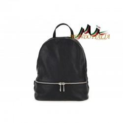 Taliansky kožený batoh 1084 čierny MADE IN ITALY