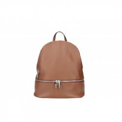 Taliansky kožený batoh 1084 hnedý MADE IN ITALY, hnedá