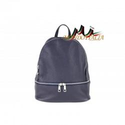 Taliansky kožený batoh 1084 modrý MADE IN ITALY