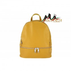 Taliansky kožený batoh 1084 okrová MADE IN ITALY