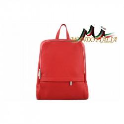 Taliansky kožený batoh 129 červený, červená