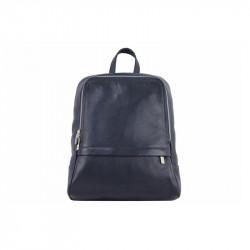 Taliansky kožený batoh 129 modrý, modrá