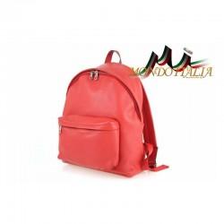 Taliansky kožený batoh 410 červený MADE IN ITALY 410