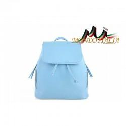 Taliansky kožený batoh 420  nebesky modrý MADE IN ITALY 420