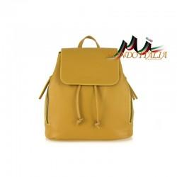 Taliansky kožený batoh 420 okrový MADE IN ITALY