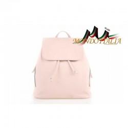 Taliansky kožený batoh 420 ružový MADE IN ITALY 420