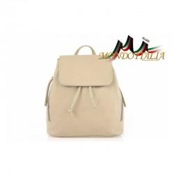 Taliansky kožený batoh 420 šedohnedý MADE IN ITALY