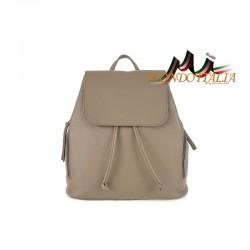 Taliansky kožený batoh 420 tmavo šedohnedý MADE IN ITALY