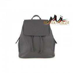 Taliansky kožený batoh 420 tmavošedý MADE IN ITALY