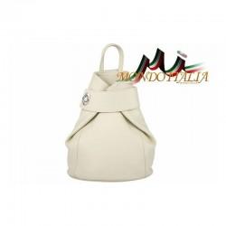 Taliansky kožený batoh 443 béžový MADE IN ITALY 443