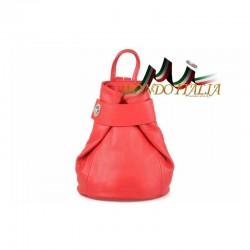 Taliansky kožený batoh 443 červený MADE IN ITALY 8443
