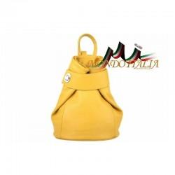 Taliansky kožený batoh 443 žltý MADE IN ITALY 443