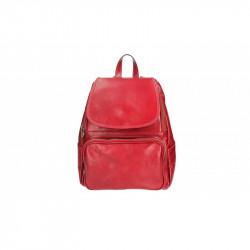 Taliansky kožený batoh 5089 červený MADE IN ITALY, červená